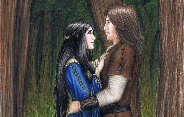 Beren e Lúthien, Tolkien e Edith