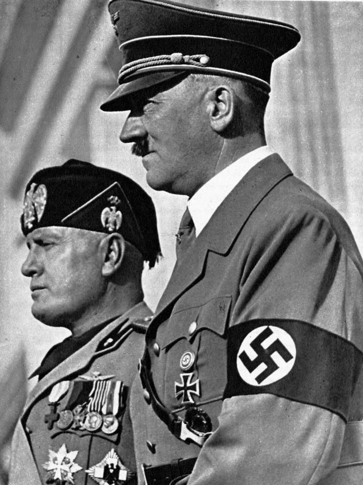 Hitler Mussolini Donald Trump